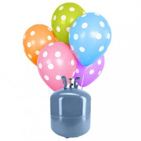 Botella de Helio Mini con 30 Globos Lunares