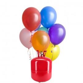Bombona de Helio Maxi con 50 Globos Pastel