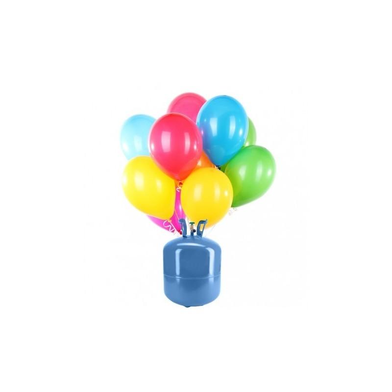 Botella de helio mini con 30 globos pastel - Botella de helio barata ...