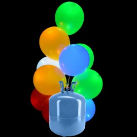 Botella de Helio Mini con 30 Globos Led